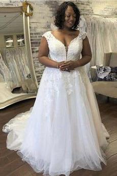 Robe de mariée Traîne Courte Printemps Décolleté Dans le Dos