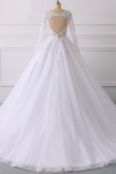 Robe de mariée Décolleté Dans le Dos Traîne Longue Eglise gossamer