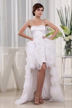 Robe de mariée De plein air Organza Glissière Poire Été Sans Manches