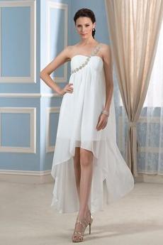 Robe de mariage Luxueux De plein air Une épaule Corsage plissé