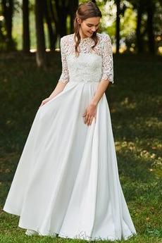 Robe de mariage Col de chemise t Drapé Avec la veste Automne