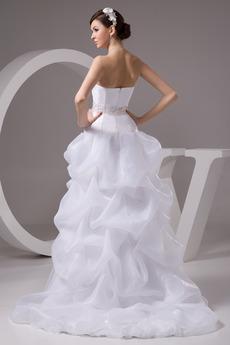 Robe de mariage Taille chute Plage Perler Haut Bas Classique