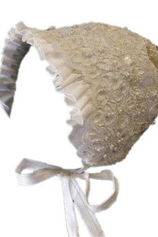 Robe de fille de fleur Haute Couvert Dentelle Petit collier circulaire