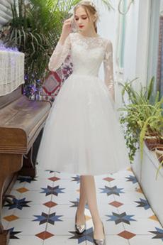 Robe de mariée Manquant Naturel taille Glamour Manche Longue