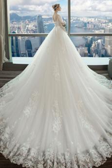 Robe de mariée Dentelle Lacez vers le haut Formelle Dentelle