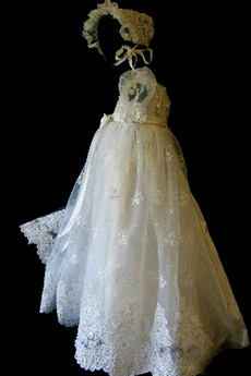 Robe de fille de fleur Princesse Cérémonie Petit collier circulaire