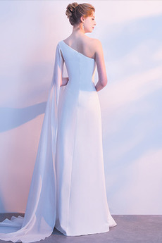 Robe de soirée a ligne Epurée Manquant Été Longueur de plancher
