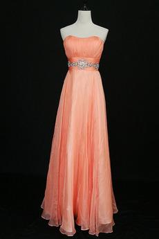 Robe de demoiselle d'honneur Rose Sans Manches Longueur Cheville
