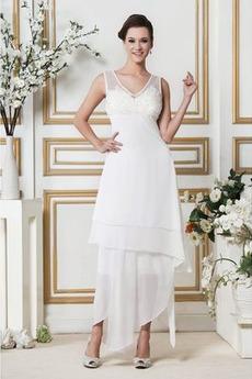 Robe de mariée Été Chiffon Fermeture à glissière Petites Tailles