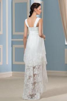 Robe de mariée Dentelle Printemps Moderne Larges Bretelles taille haut