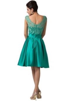 Robe de soirée Mi-longues Glamour Sans Manches A-ligne Fermeture à glissière