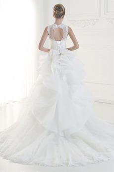 Robe de mariée Dentelle Naturel taille Automne A-ligne Laçage