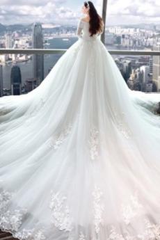 Robe de mariée Eglise Formelle Traîne Royal Satin Naturel taille