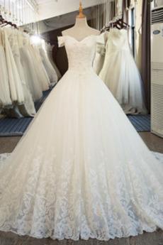 Robe de mariée aligne Fourreau Avec Bijoux Formelle Poire Mancheron
