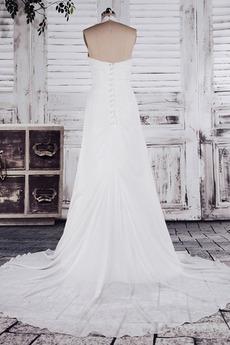 Robe de mariage Pailleté Mousseline Empire fin A-ligne Epurée