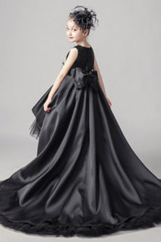 Robe de fille de fleur net Printemps Manquant Haute Couvert