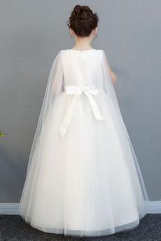Robe de fille de fleur Longueur Cheville net Fermeture à glissière