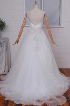 Robe de mariage Perle Manquant Traîne chapelle Naturel taille