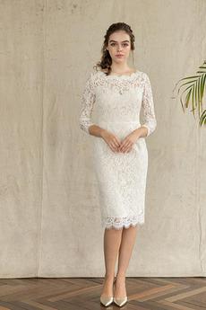 Robe de mariée Manche de T-shirt Jardin Petit collier circulaire