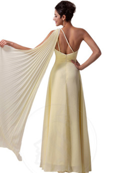 Robe de bal Naturel taille Elégant Haut Bas Une épaule À la masse