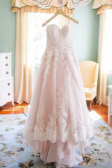 Robe de mariée Printemps Train de petit Naturel taille Epurée