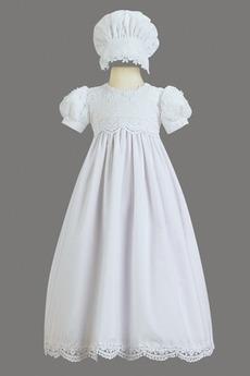 Robe de fille de fleur Princesse Haute Couvert Cérémonial Manche Courte