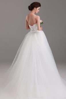 Robe de mariée Sans courroies Rectangulaire Naturel taille Drapé