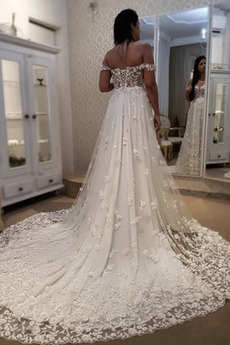 Robe de mariée Tulle Manquant noble Décalcomanie De plein air