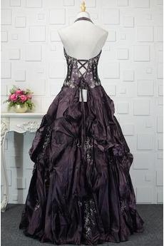 Robe de bal Corsage Avec Bijoux Laçage Naturel taille Taffetas