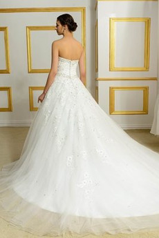 Robe de mariée Manquant Dos nu a ligne Col en Cœur Naturel taille
