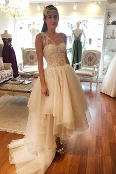 Robe de mariée Asymétrique Manquant Glamour Sans Manches Asymétrique