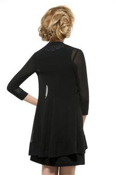 Robe mères Avec la veste Manche de T-shirt A-ligne Naturel taille
