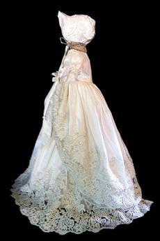 Robe de fille de fleur Princesse Manche Courte Printemps Longue