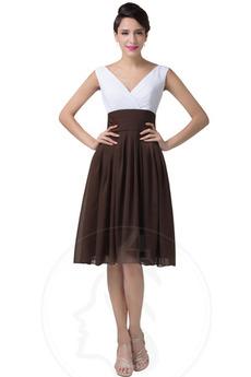 Robe de bal A-ligne Plissé Mi-longues Fourreau plissé Été Manquant
