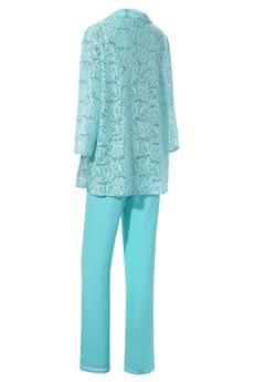 Robe mères Un Costume Luxueux Avec des pantalons Couvert de Dentelle