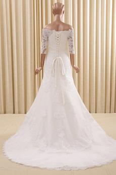 Robe de mariée Sirène Automne Petites Tailles Décalcomanie Salle
