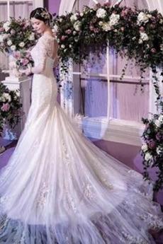 Robe de mariée Sexy Petit collier circulaire Serré Trou De Serrure