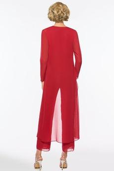 Robe mères Avec la veste Automne Mousseline Ballon Manche de T-shirt