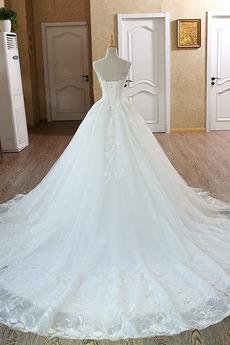 Robe de mariée Formelle Eglise net Froid Col Bateau Traîne Longue
