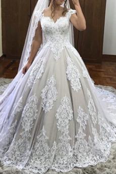 Robe de mariée Dentelle Triangle Inversé Été Fermeture à glissière