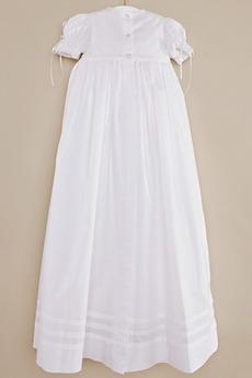 Robe de fille de fleur Col de chemise t Taffetas Naturel taille