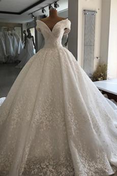 Robe de mariée Organza Sablier Formelle De plein air Naturel taille