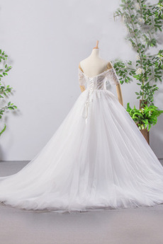 Robe de mariée Dos nu gossamer Naturel taille aligne Multi Couche