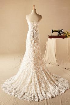 Robe de mariage Fermeture à glissière Naturel taille Chic Maigre
