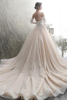 Robe de mariée Manquant Hiver Dentelle haut bustier tube Cérémonial