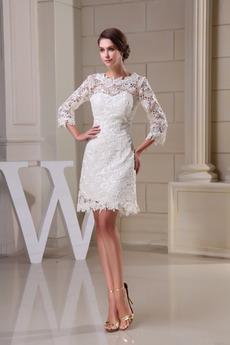 Robe de mariée Courte Désinvolte Naturel taille Près du corps