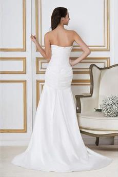Robe de mariée Sirène Sans Manches Taille chute Dos nu Vintage