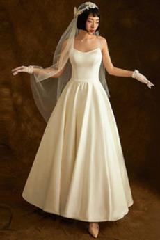 Robe de mariée Naturel taille Désinvolte De plein air Longueur Mollet