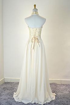 Robe de demoiselle d'honneur Mousseline Mariage Traîne Courte