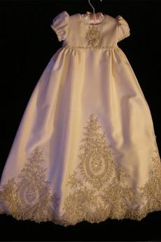 Robe de fille de fleur Princesse Petit collier circulaire Haute Couvert